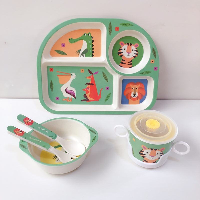 Wholesale alibaba bamboo tableware kids plate
