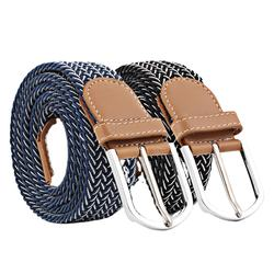 Custom Braided Canvas Woven Casual Elastic Stretch Belts for