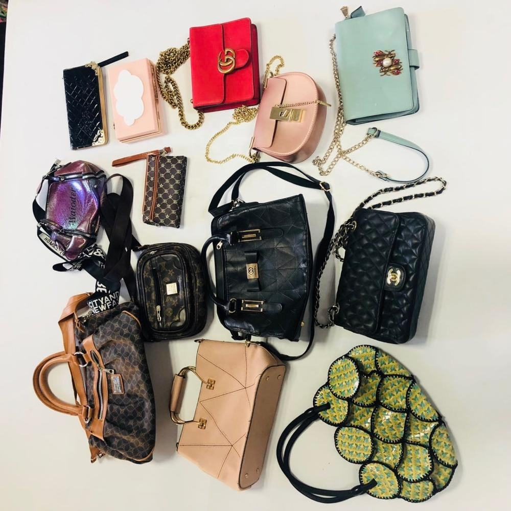 Used Luxury Hand Bags Cream branded used bags in bales used clothes for africa