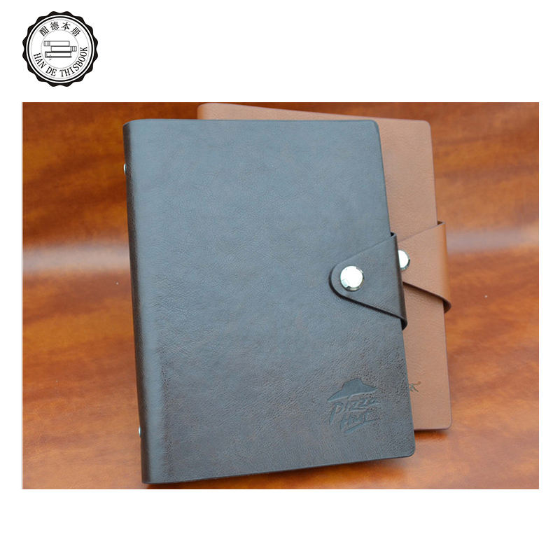 Guaranteed quality pu leather college B5 ruled business card spiral Loose-leaf notebook pentium With Document Pocket