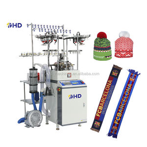 Seamless Hat Scarf Knitting Machine Double System fully jacquard