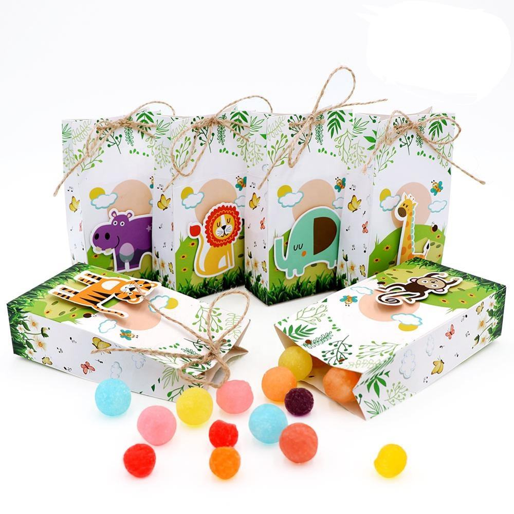 OurWarm Hohe Qualität Zubehör In Kinder Geburtstag Baby Shower Party Supplies Favor Cartoon <span class=keywords><strong>Thema</strong></span> Box Geschenk Box