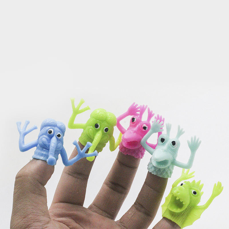 Finger Puppet Finger Toy TPR Soft Baby Hand Puppet Finger Monster Animal Finger Puppet Monster Doll 9150327-1