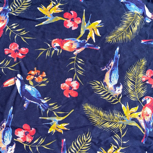 Printed 100% rayon fabric dress garment fabric viscose printed soft feeling printed 100 rayon fabric