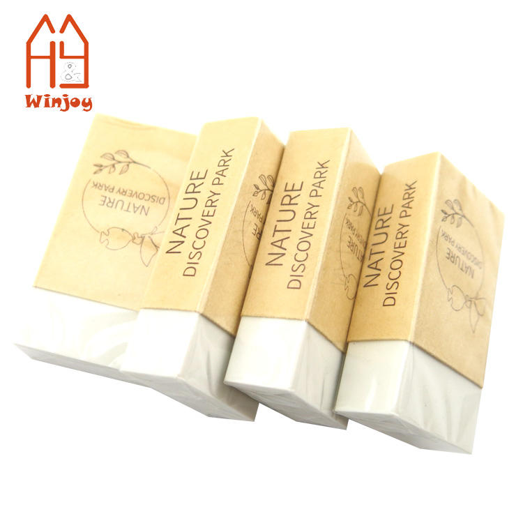 Made in China cheap price environmental protection kraft paper wrapper white eraser in design