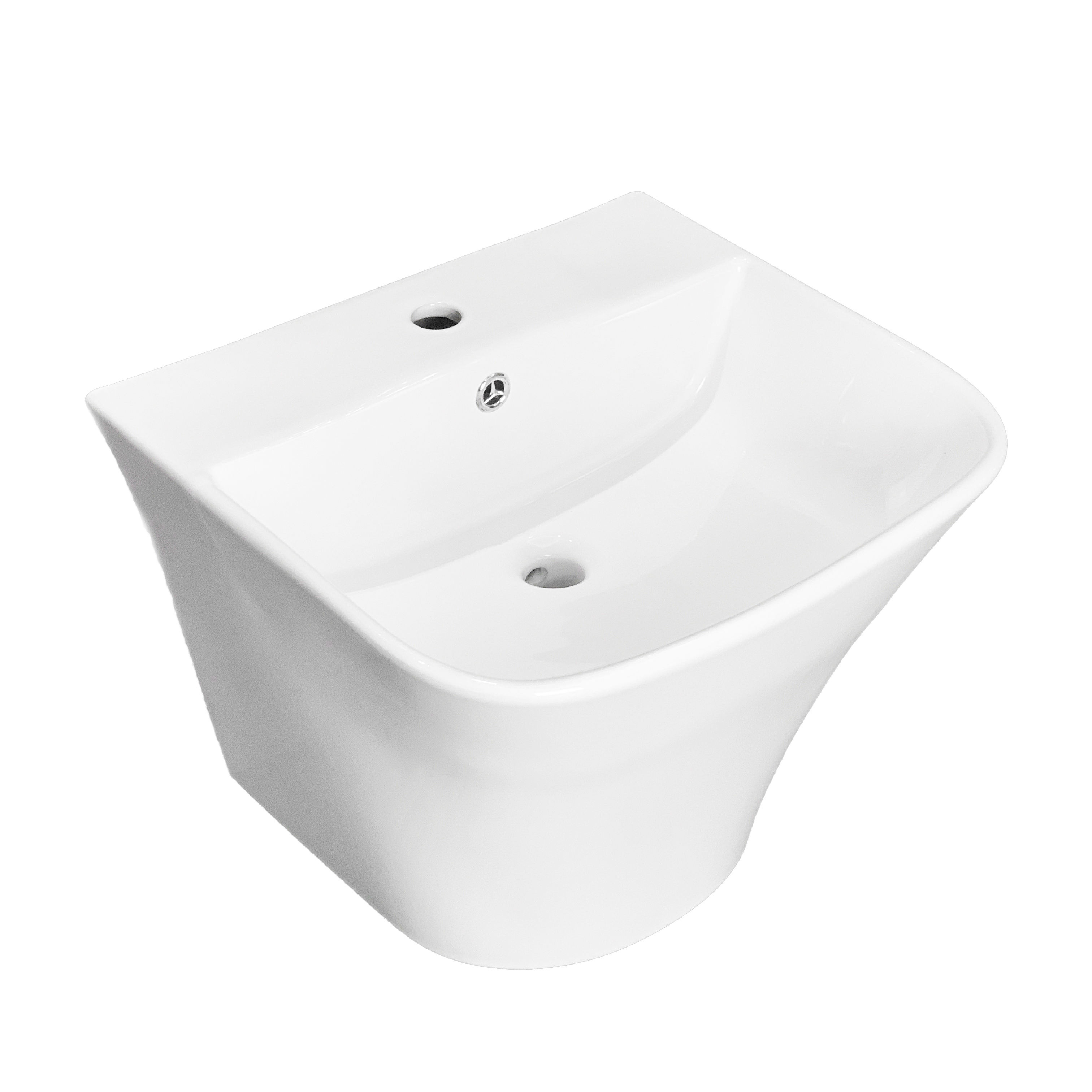 model: H230 New Style Basin Wall Hung Wash Basin Ceramic Mount Sink