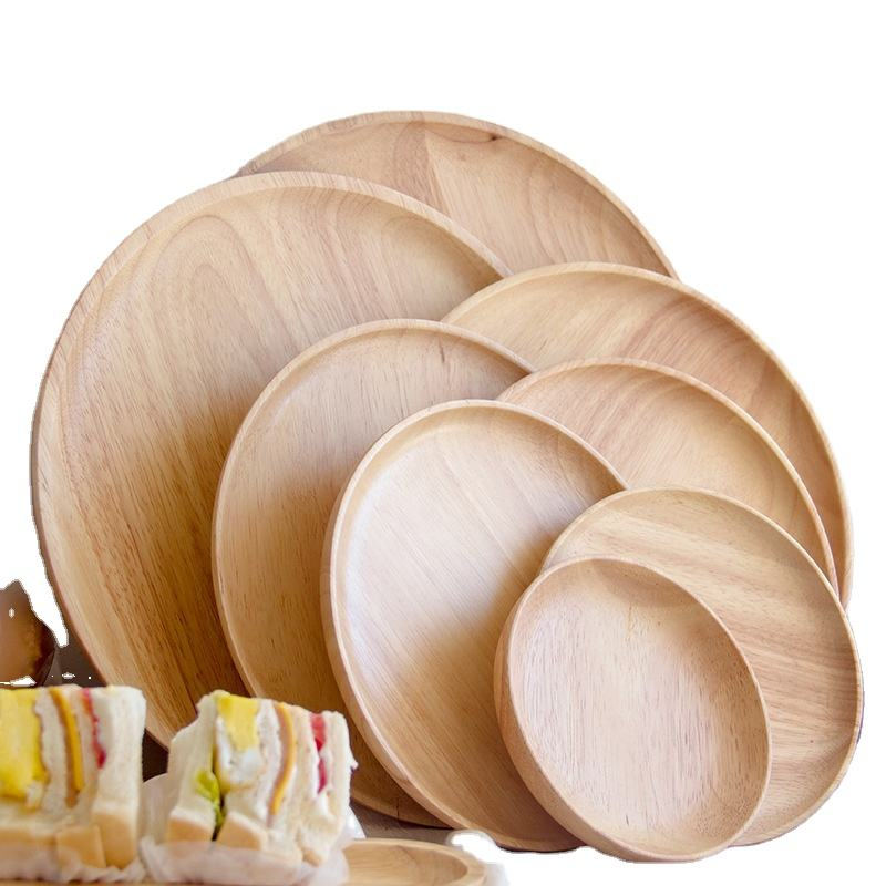 Different size round wood plate, bamboo food serving dinner plate , round bamboo dinner bamboo plates