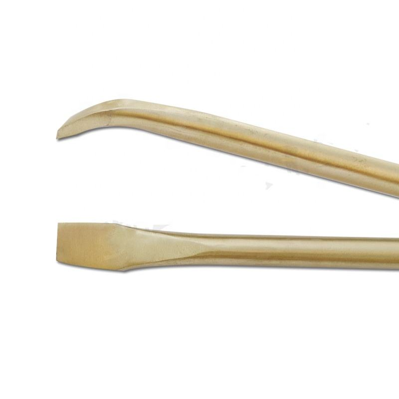 Sparkproof pry bars with pointed and flat bent ends aluminum bronze 30*1500mm