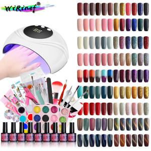 Factory Supply Wholesale Price Nail Art Set Soak off Semi Permanent 24W UV Gel Nail Polish Kit Dropshipping