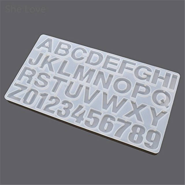 3D Silicone resin mold Letter Number Alphabet Cake Fondant Mould Sugar Craft