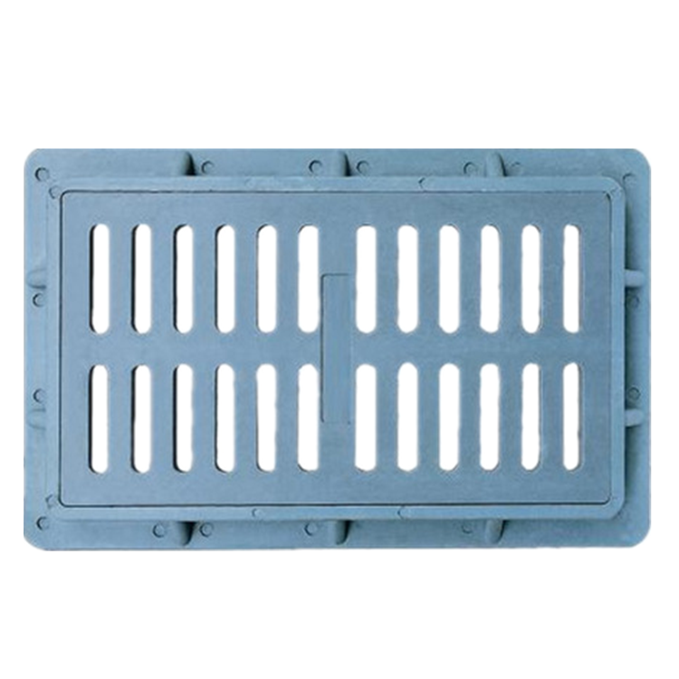 Customized manhole covers composite resin truck drain cover SMC gully gratings EN124 C250 D400 A125 for road drainage