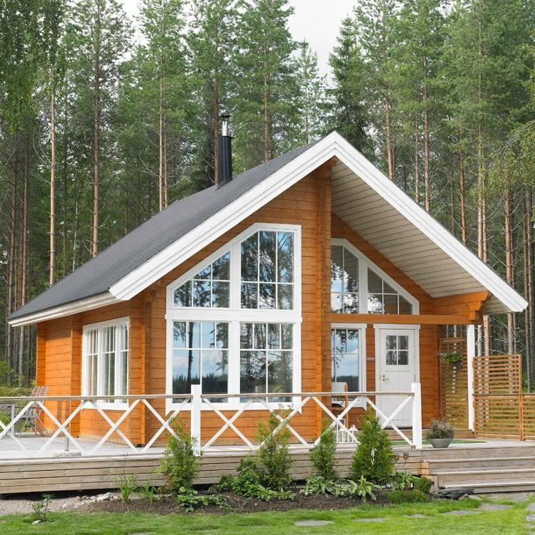 Luxury Villa Prefab Beautiful Ready Made House Apartment Cnstruction-real-estate Prefabricated log Wooden Houses