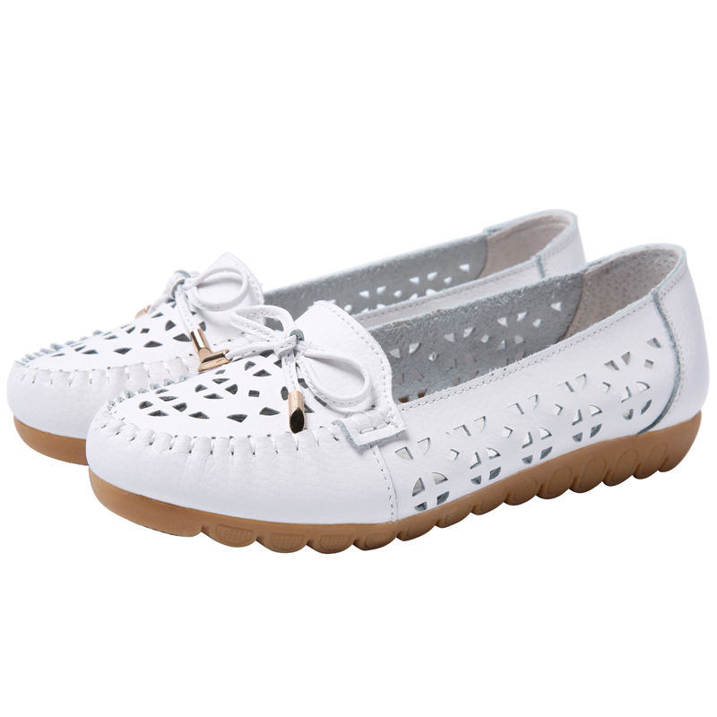 Breathable summer outdoor custom you logo closed slip on fashion flats shoes for women