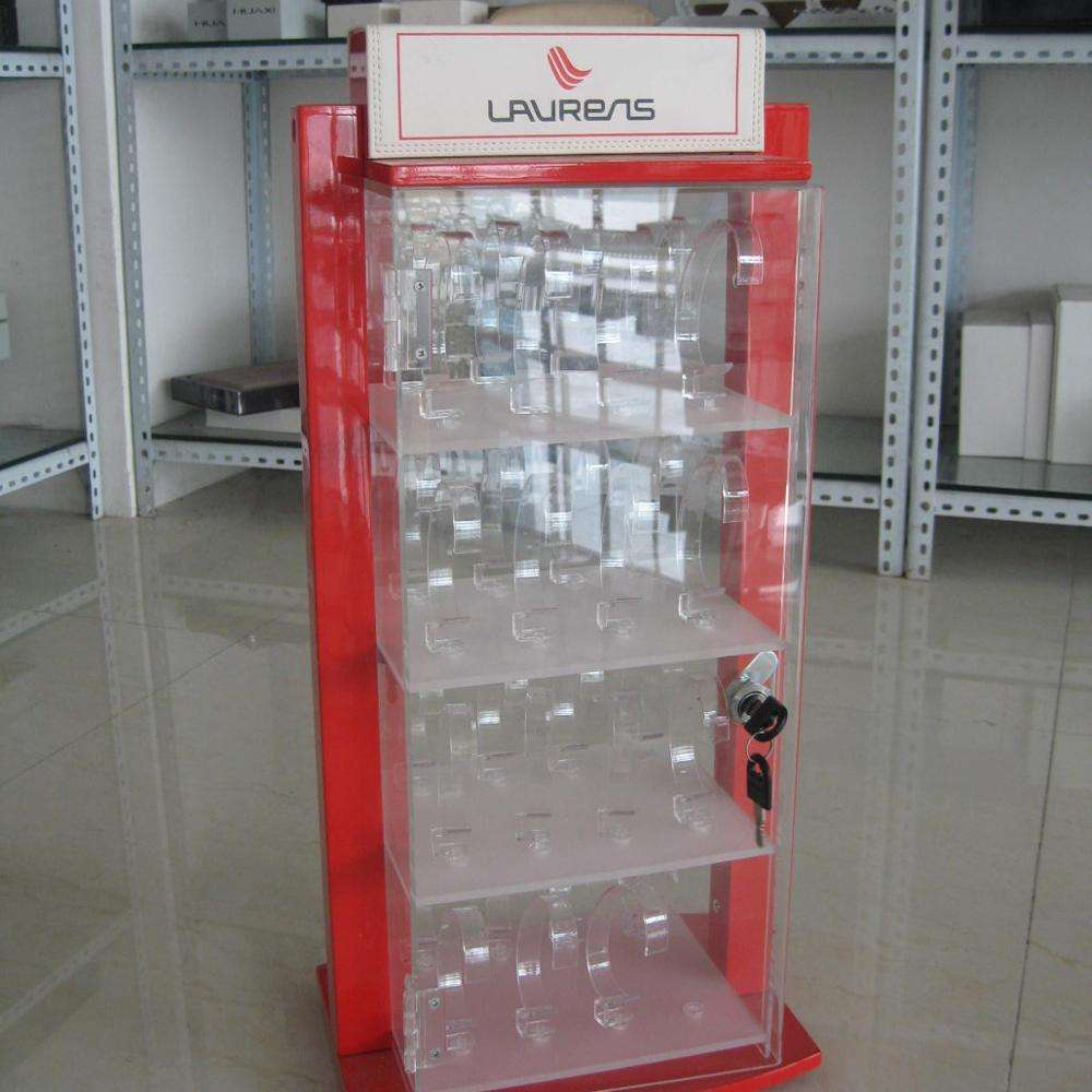 Best selling customized acrylic watch display cabinet with lock