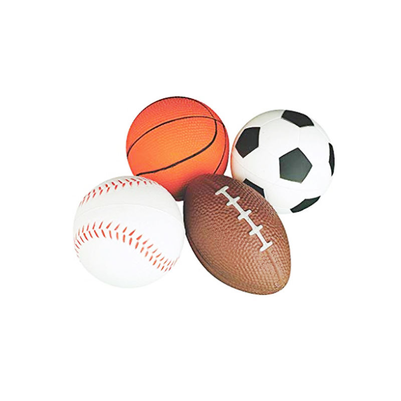 PU foam stress ball football basketball baseball rugby HOT SALE promotional ball set