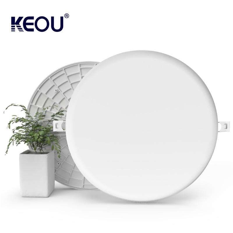 Keou PC 알루미늄 Dimmable led recessed 램프 36W 라운드 frameless led 조명 패널