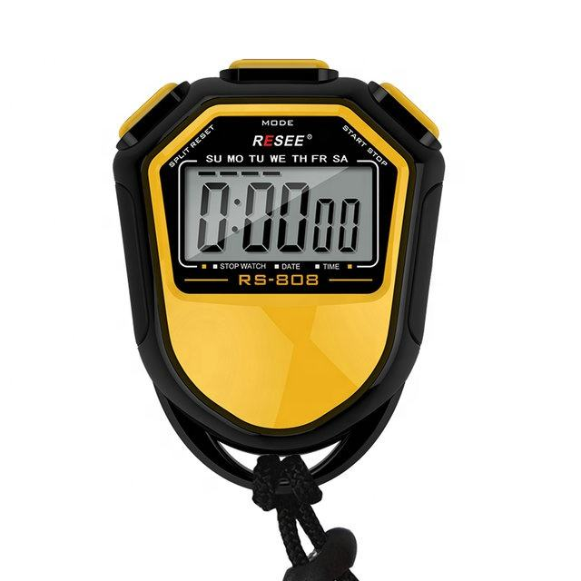 Digital LCD Display In Timer Countdown Stopwatch For Sports Gym Fitness Chronograph Stop watch Bicycle Type Exercise