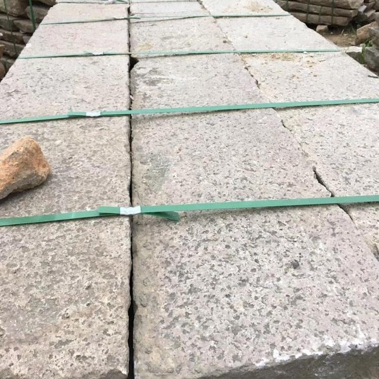 Antique reclaimed bush hammered stone paving old