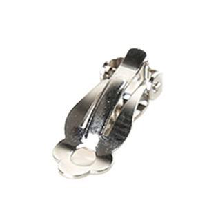 High quality brass ear clip backs DIY earrings findings women girl jewelry making accessories nickel free silver earring clip
