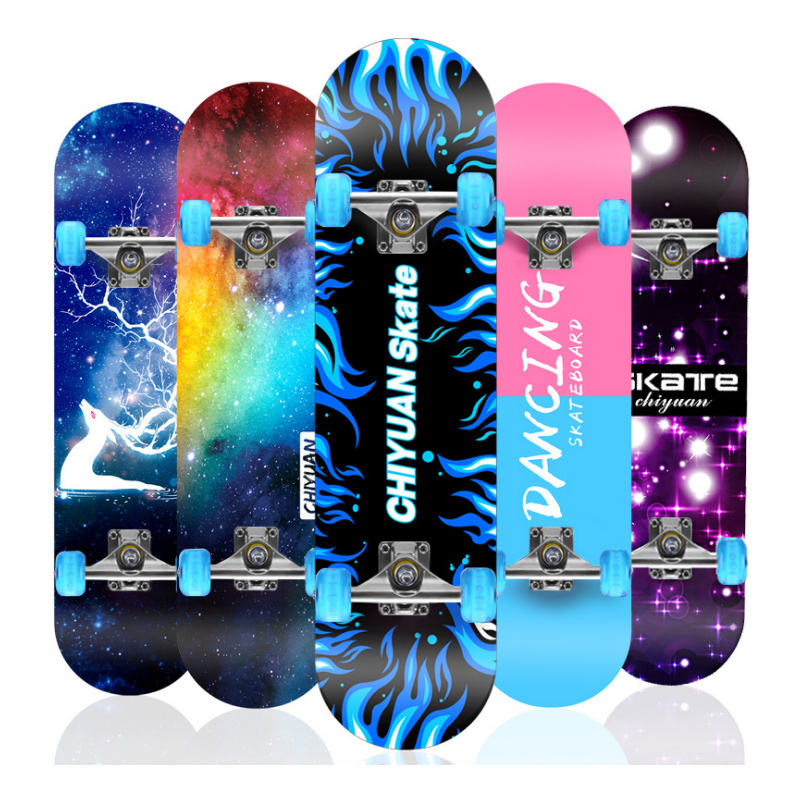 Amazon hot sell complete Skateboards with Colorful Flashing Wheels for Beginners Kids Boys Girls Teenager Skate Board