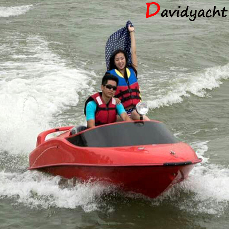 China jet boat for sale mini motor speed boat Christmas Factory directly provide high quality fiberglass yacht small mini speed