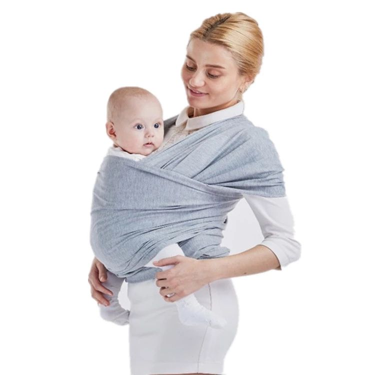 Amazon hot sale ergonomic organic cotton stretchy baby sling wrap carrier band