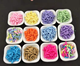 Creative DIY mini chocolate silk candy clay colors sprinkles 1000g sugar ice cream for cup keychain