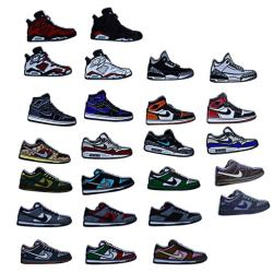 Customized Manufacturer Stock Metal Sports Sneaker Shoes Car