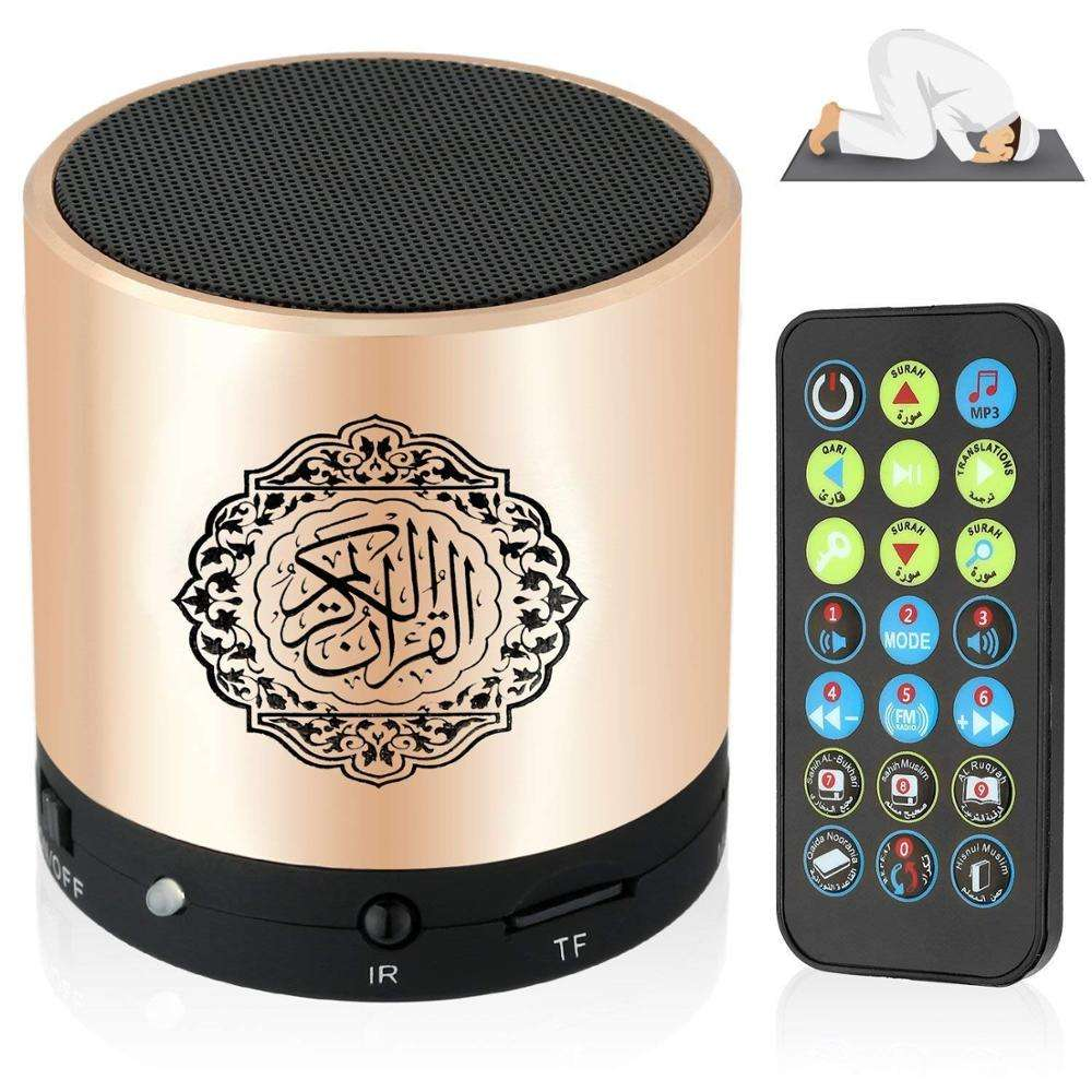 Grosir SQ200 Remote Control Portable Mini Muslim Emas Quran Membaca Speaker