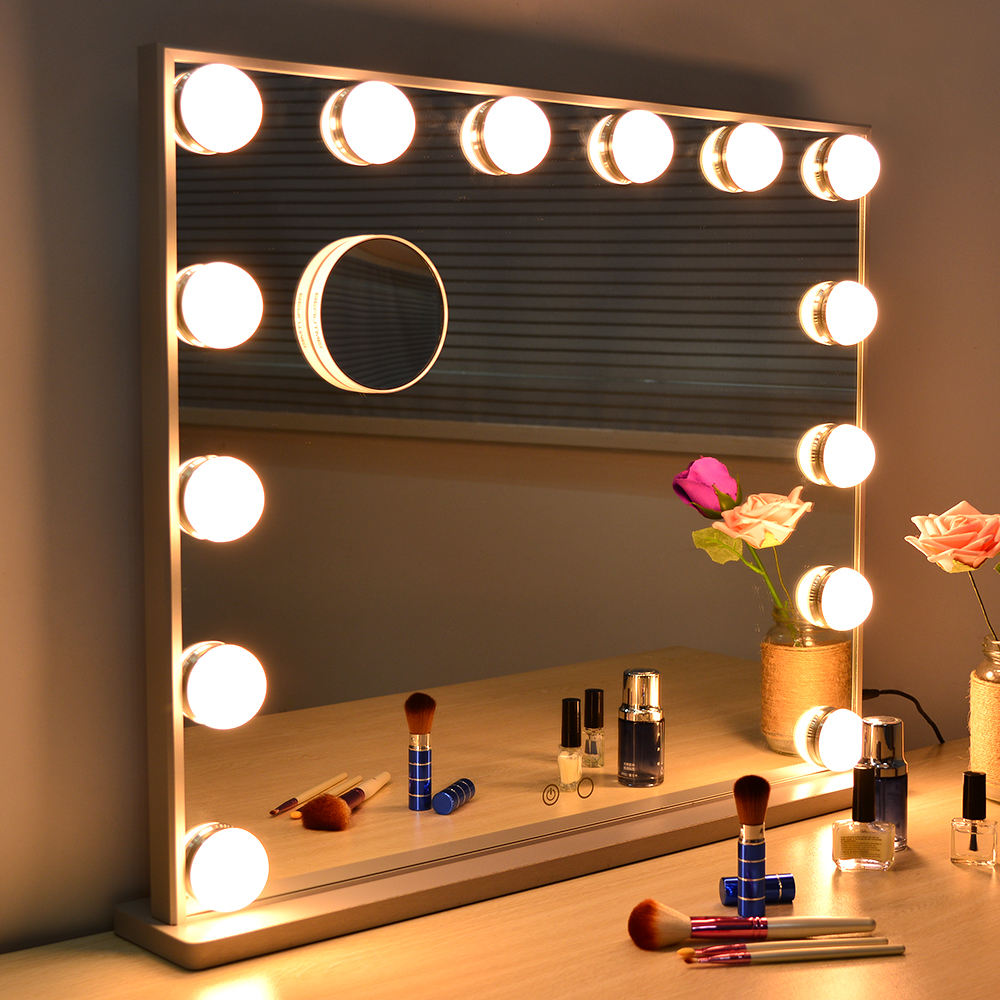 Beautme Hollywood Make-Up Spiegel mit Lichter Tabletop oder Gabe Wand Eitelkeit Spiegel mit 10X Magnetische Vergrößerungs Haben CE