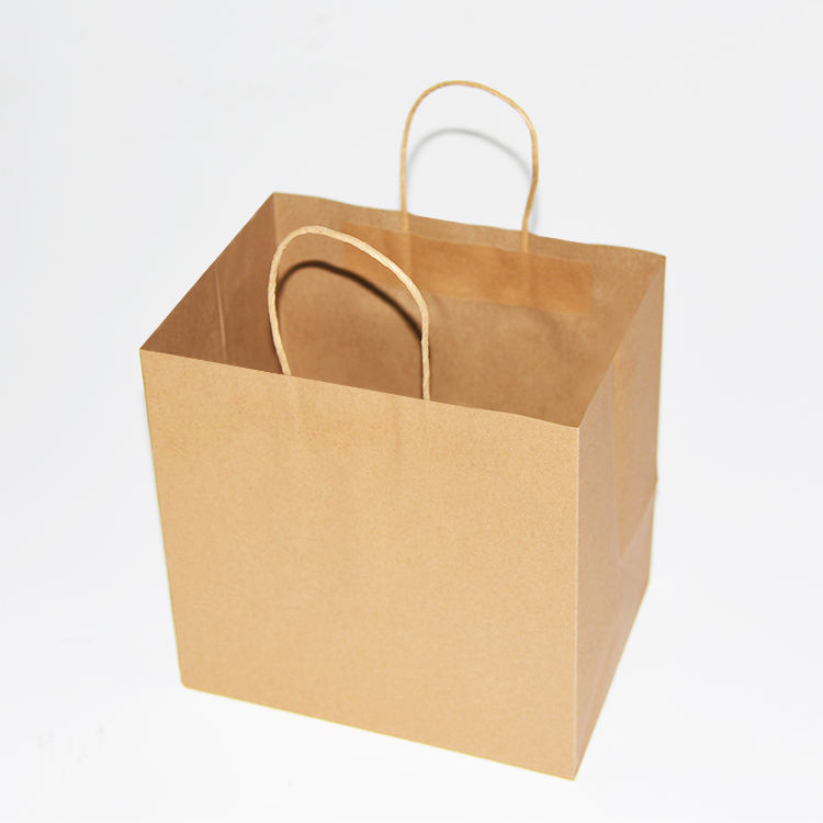 Big Stock Brown Waterproof Shopping Kraft Paper Packaging Gift Bag