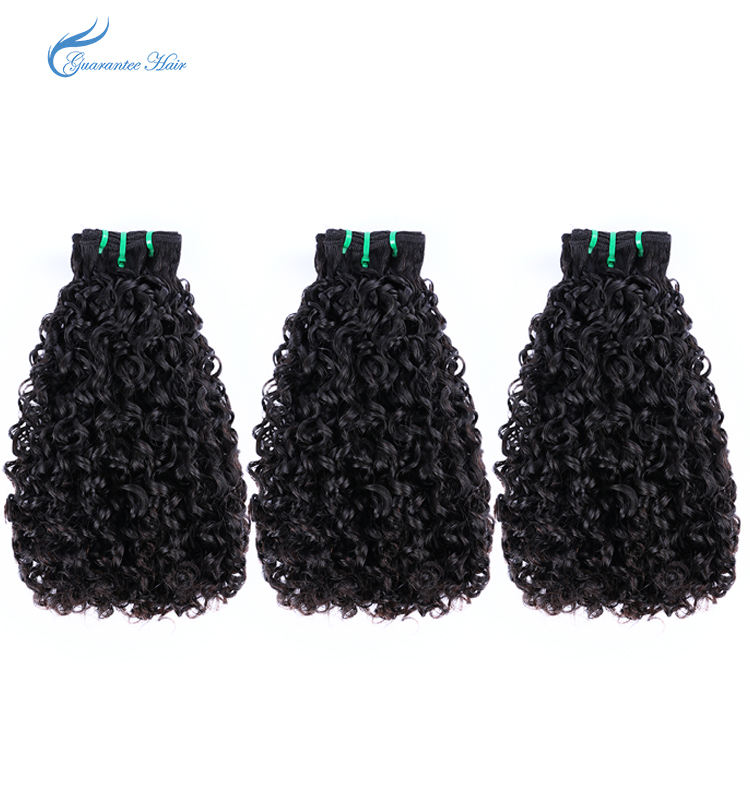 Pissy curly fumi double drawn superior quality hair 10a from 10inch to 18inch guarantee hair company factory price for sell