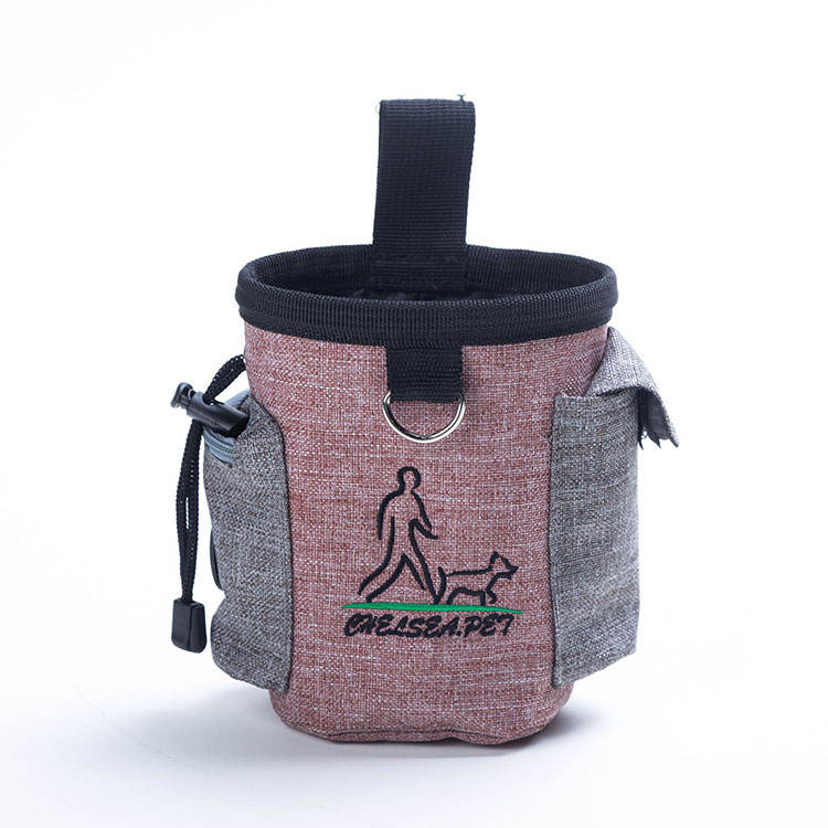 Outdoor hond snack tas riem nylon dog training treat tassen
