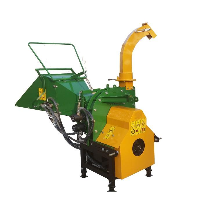 8 inches (200mm) chipping capacity tractor PTO hydraulic wood chipper