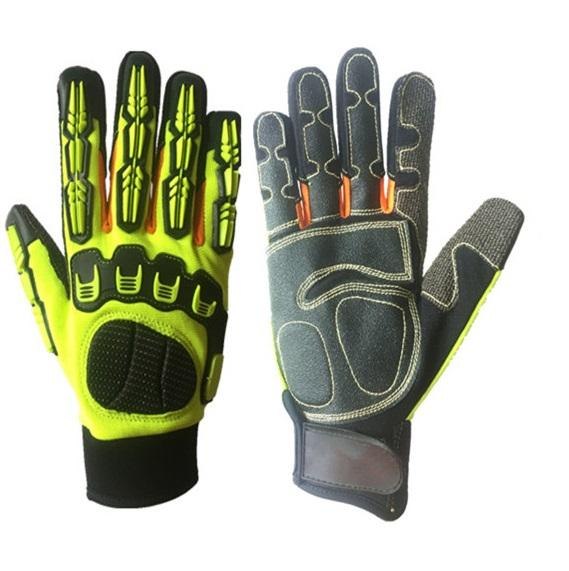 Mechanic antivibration Cut Resistant TPR Impact Protection Gloves