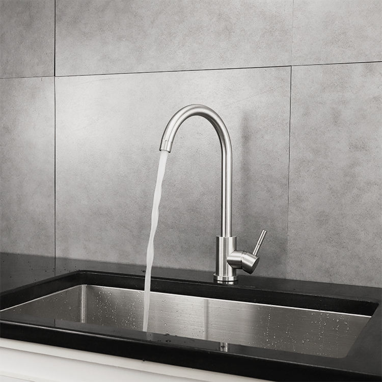 K1 italian Top mount stainless steel farmhouse kitchen sink designs with drain board kitchen taps