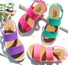 Fashion colorful classic design toddler kids girls pvc sandals
