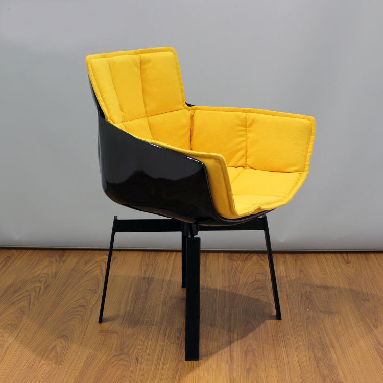 Modern Fiberglass shell leisure chair recliner chairs for living room home office coffee shop furniture