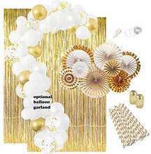 Gold Balloons Decorations set , Bday Metallic Foil Happy Birthday Balloon for Birthday Party Ceremony