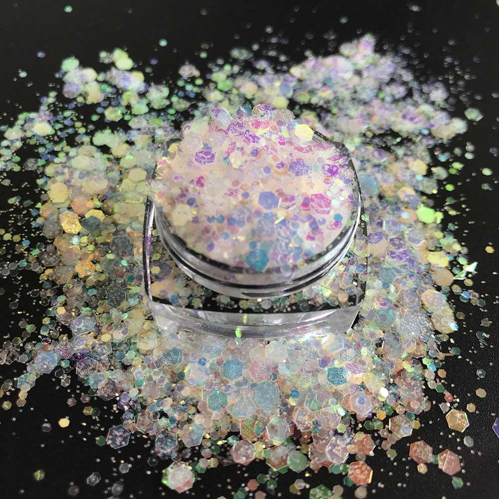 High resistance PET holographic chunky mixed glitter for Christmas Occasion