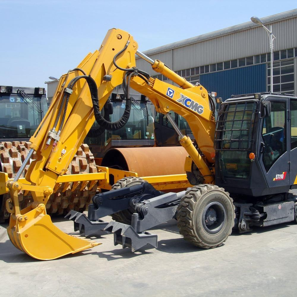 XCMG official 6ton mini wheel excavator XE60WA with high quality