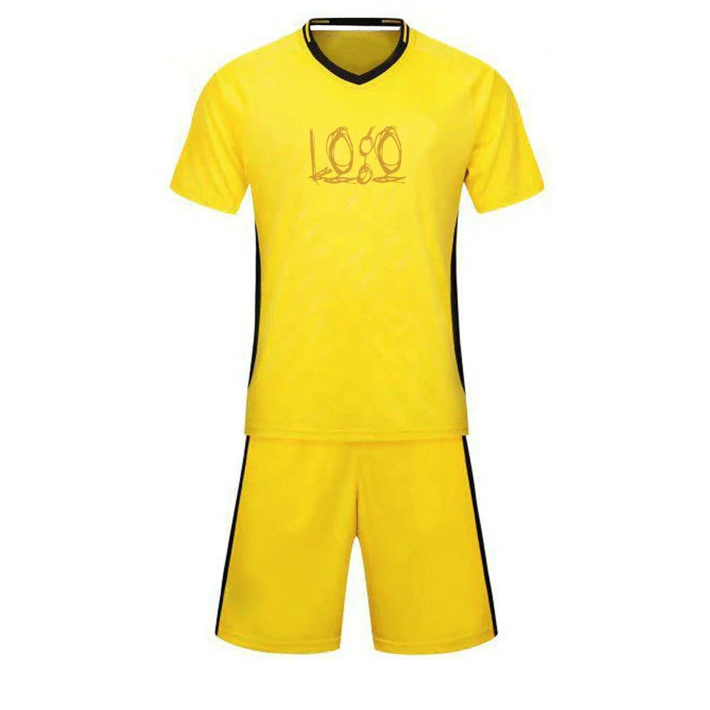 Wholesale 20/21 The Latest Design 100% Polyester yellow Club Soccer Jersey Wear Sets Soccer Kits Soccer Uniform