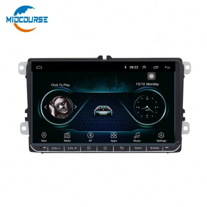"MIDCOURSE Factory 9"" 2din Android 8.1 Car DVD GPS Radio System for VW Volkswagen Touareg T5 Transporter Multivan 2004-2011"