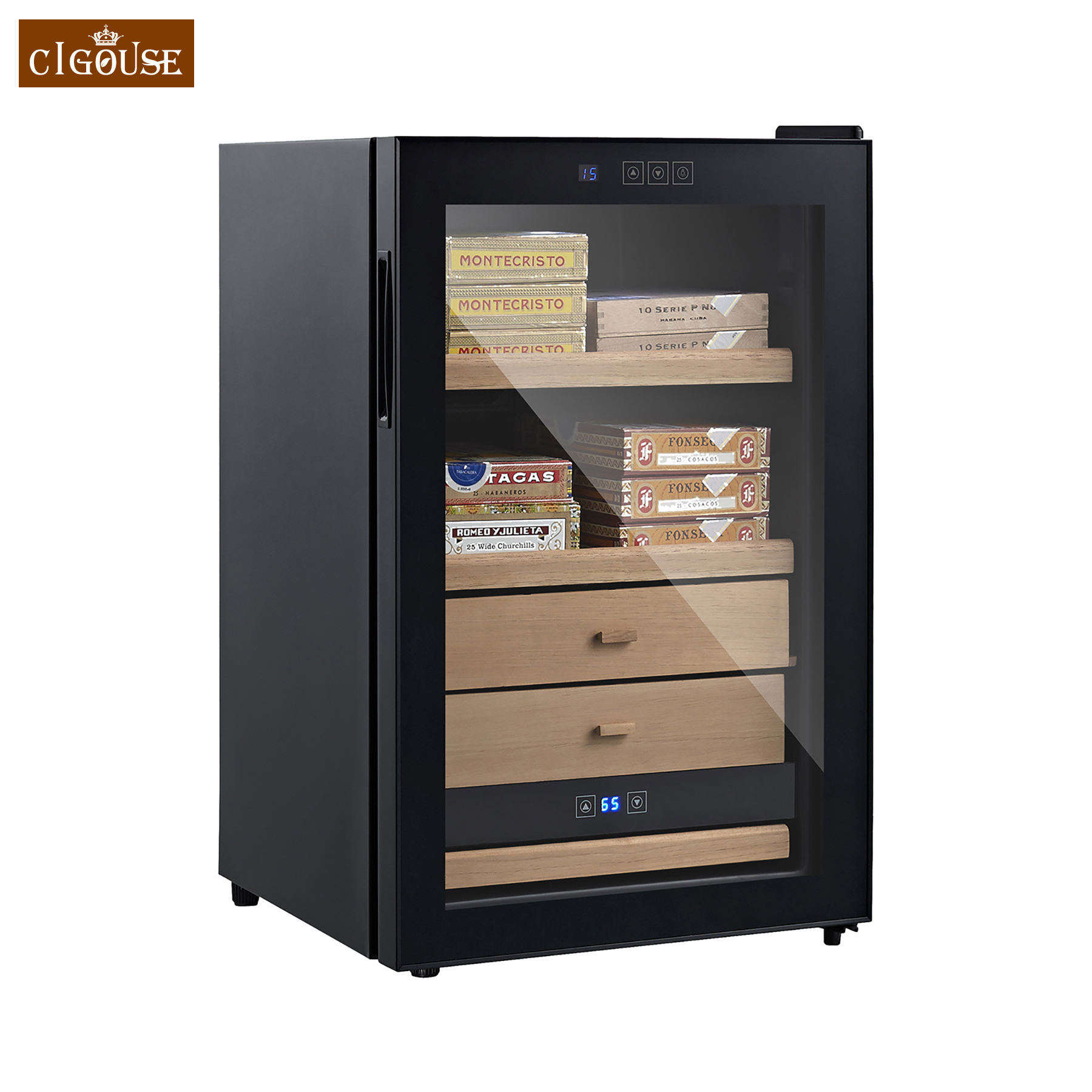 Noise-free CIGOUSE Thermoelectric Cigar Humidor CT65A