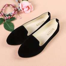 women casual ballet slip on flats loafers single shoes