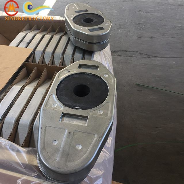 sliding plate cs60 refractory brick for steel flow control