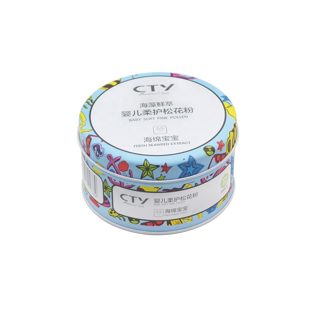 Wholesale round decorative matt tins metal soap tin box for gift