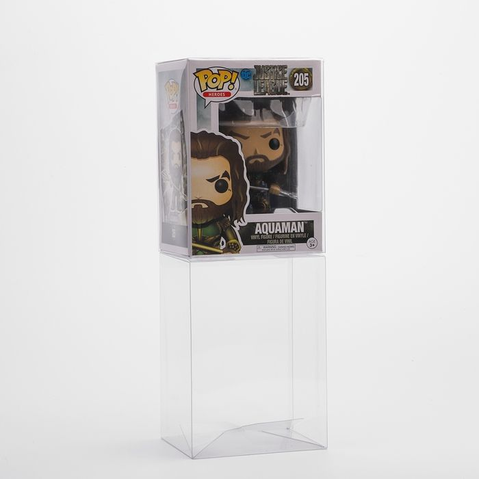 Acid free 0.50 mm thickness auto locking clear vinyl one piece funko pop protectors 6