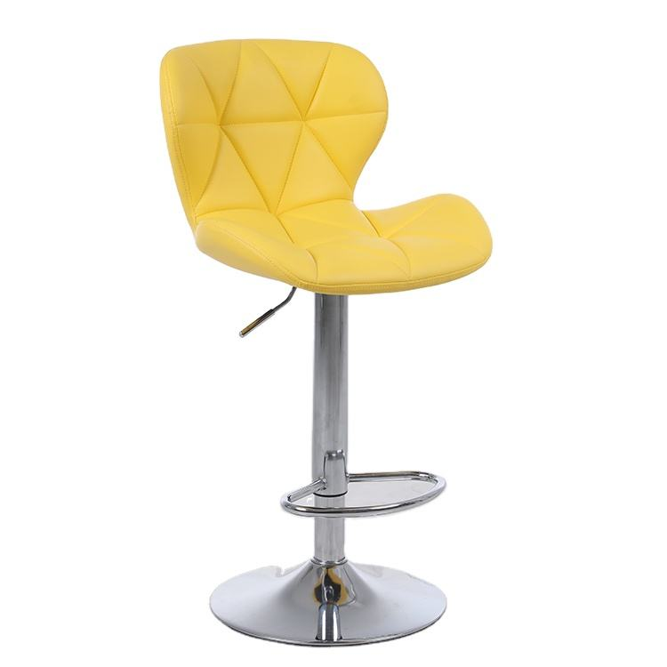 Bar Stool Pu Leather Chair Modern China Yellow Bar Furniture Home Bar Commercial Furniture Synthetic Leather