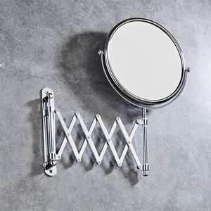 Wall mounted folding Bathroom Mirror 3 X double-sided Collapsible Make-up Mirror
